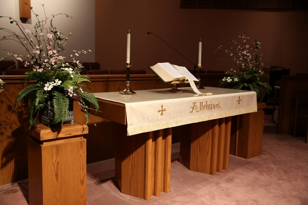 East Alton First Untied Methodist Church alter