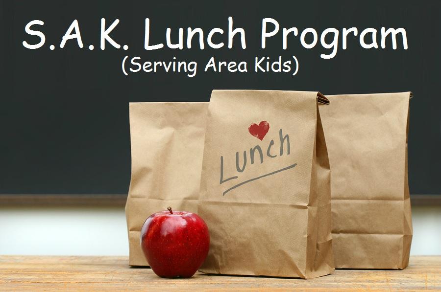 sak lunch, serving area kids, umc, methodist church program