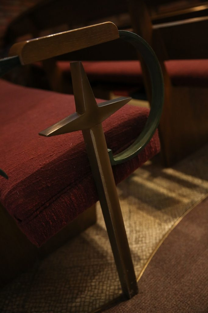 pew end, chapel, umc, east alton first united methodist church